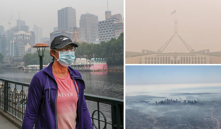 Melbourne, Sydney and Canberra all experienced compromised air quality through the bushfires.